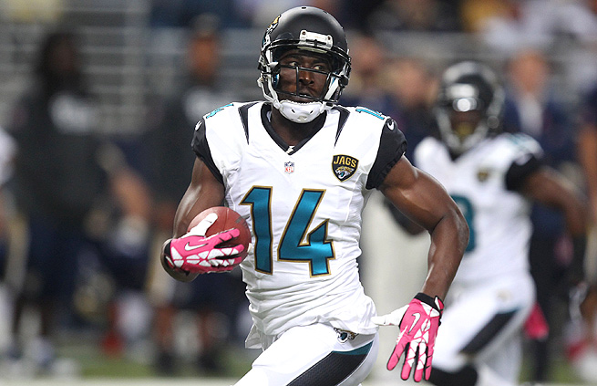 In his first game of the season, Justin Blackmon caught five passes for 136 yards and a touchdown.