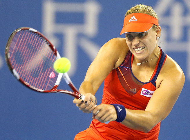 Angelique Kerber, who received a late wild-card entry into the tournament, will face Carla Suarez Navarro next.