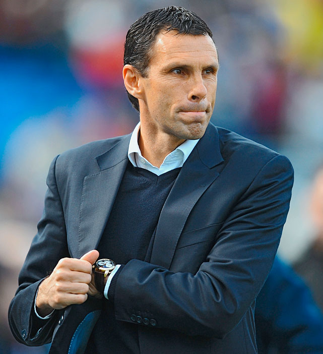 Gus Poyet, manager of Brighton & Hove Albion, an English second tier soccer club, learned he had been fired while he was working as a BBC analyst and was handed a script that included an announcement of his dismissal.