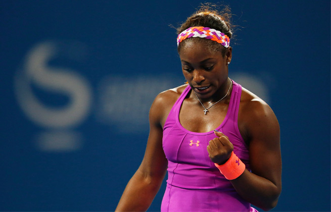 Sloane Stephens lost 6-7 (3), 6-4, 7-5 in the Linz quarters Friday.