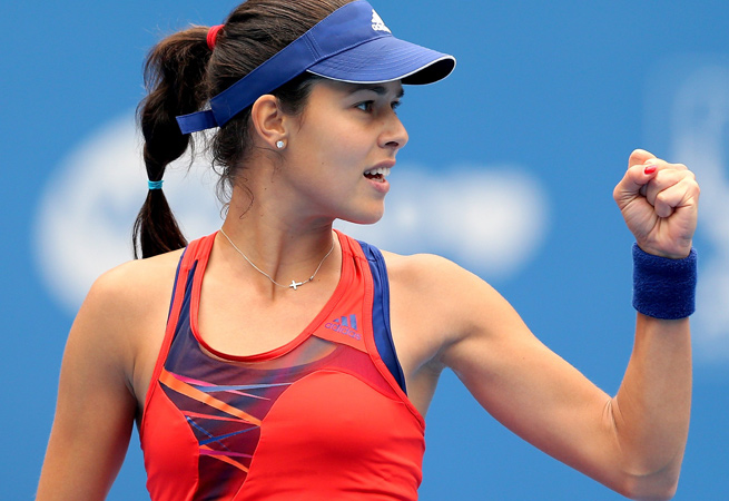 Ana Ivanovic beat Stefanie Voegele in straight sets to advance to the Generali Ladies Linz final.