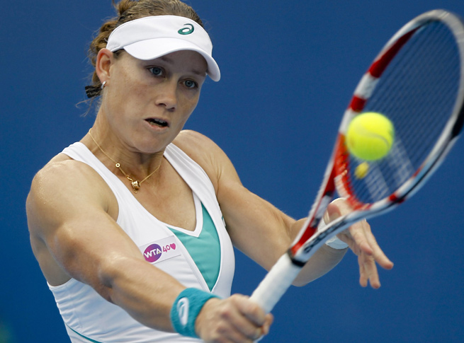 Samantha Stosur beat Madison Keys in straight sets to reach the Japan Open final.