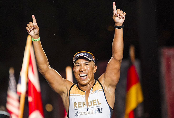 Hines Ward completed the Ironman course in 13 hours, 8 minutes and 15 seconds.