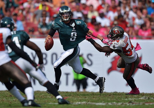 Philadelphia's Nick Foles (9) soared against the Buccaneers in only his seventh career start.