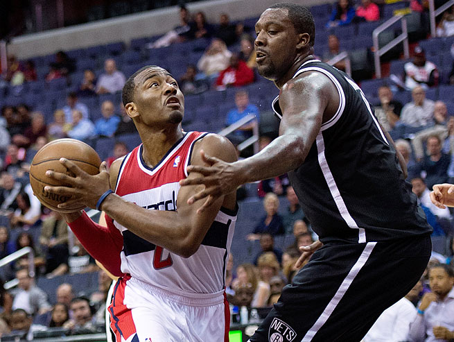 John Wall averaged 18.5 points, 7.6 assists, four rebounds and 3.2 turnovers in 49 games last season.