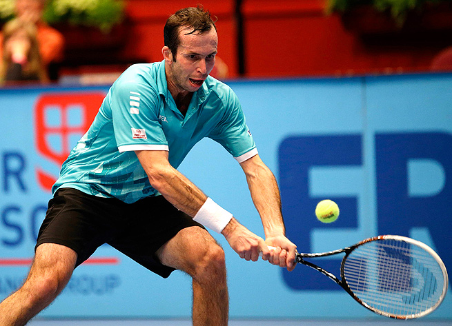Radek Stepanek was broken three times in the first set but managed to top Martin Fischer 7-5, 6-3.