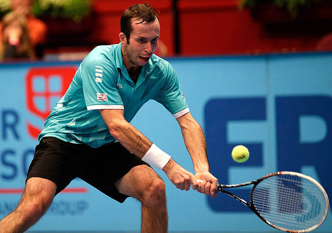 Radek Stepanek shook off three breaks in the first frame to defeat Martin Fischer in straight sets.