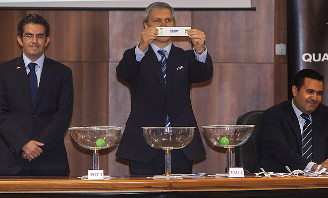 Egypt drew Ghana, the toughest opponent, in the draw for the African World Cup qualifying playoff.