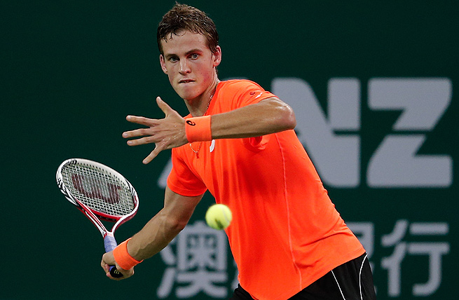 Vasek Pospisil will face Robin Haase in the second round of the Erste Bank Open.