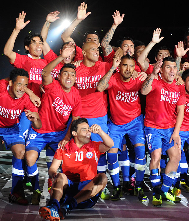 Chile defeated Ecuador 2-1 on Tuesday in Santiago, a result that advanced both teams. Chile finished third in the South American qualifying group with Ecuador in fourth, claiming the two remaining automatic berths from the region. Argentina and Colombia had already qualified as the top two teams.