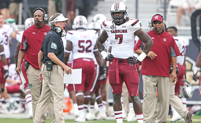 Jadeveon Clowney has been a subject of controversy this season, some of it driven by his own coach.