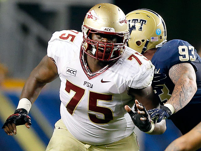 The 6-6, 320-pounder protects Jameis Winston for an attack averaging 549 yards a game.