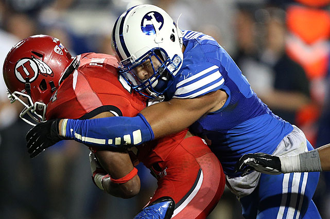 The Cougars' star has filled up the stat sheet: 10 tackles for loss, three sacks, one pick-six, one safety.