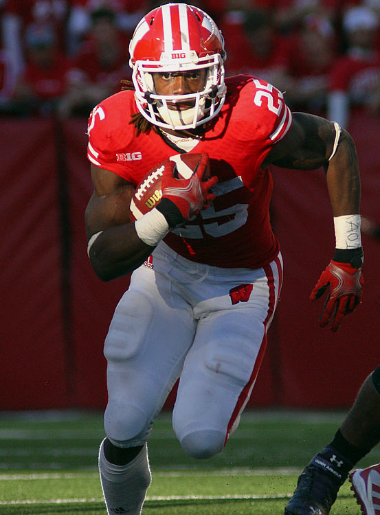 The Badgers' speedster has rushed for at least 140 yards in five of Wisconsin's six games this year.