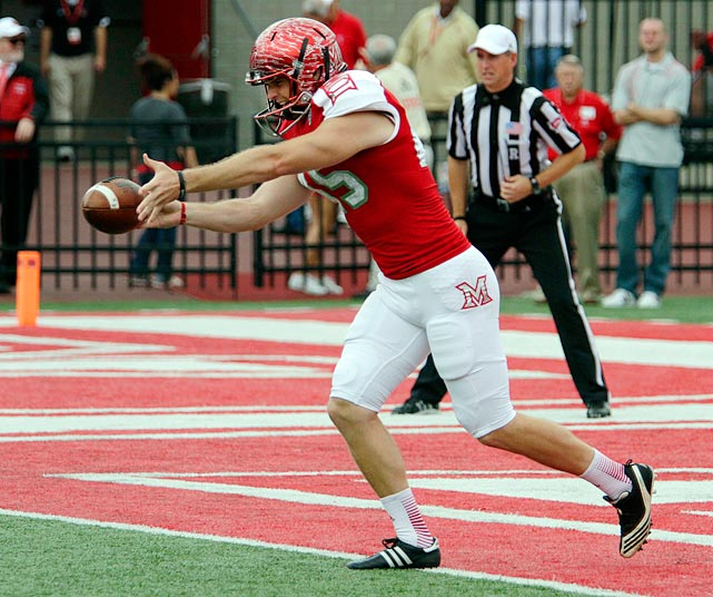 One of the few bright spots on the RedHawks, Murphy averages an FBS-best 47.7 yards per punt.
