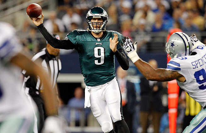 The Eagles can move into sole possession of first place in the NFC East with a win over the Cowboys.