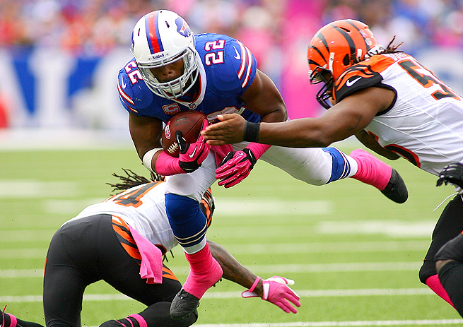 Fred Jackson split carries with C.J. Spiller last week, but Jackson saw more passes thrown his way.
