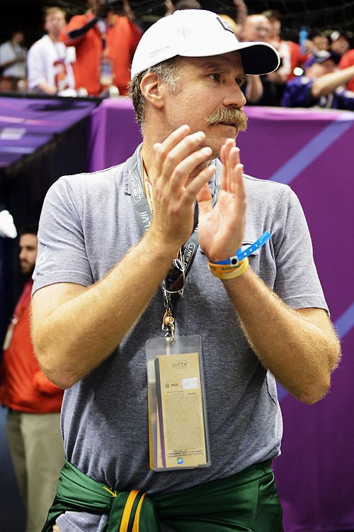 Will Ferrell attends Super Bowl XLVII between the San Francisco 49ers and Baltimore Ravens on Feb. 3, 2013 at the Mercedes-Benz Superdome in New Orleans.