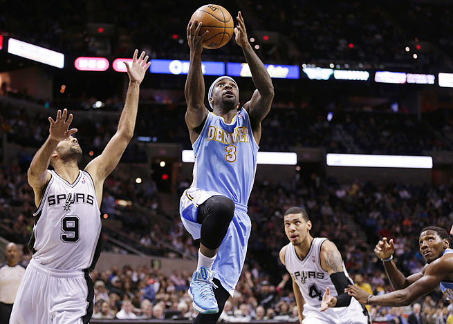 Point guard Ty Lawson led the high-octane Nuggets in scoring (16.7) and assists (6.9) last season.