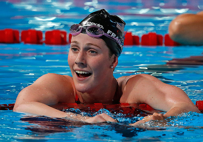 Missy Franklin took home a record haul of six gold medals at the world championships in August.
