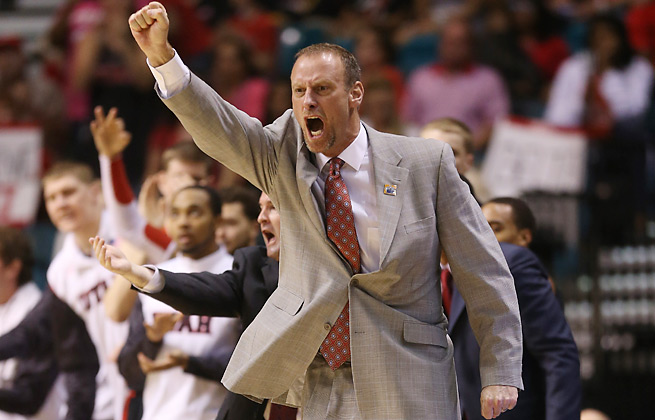 Utah men's basketball coach Larry Krystkowiak chased down a bike thief on campus in September.