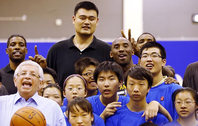 Welcome to another installment of <italics>Did You See That?</italics>, the world's most dignified photo gallery. We begin with a stately portrait of the NBA commish, Yao Ming, and Kobe Bryant with some urchins before a preseason hoops game between the Lakers and Warriors in Shanghai.