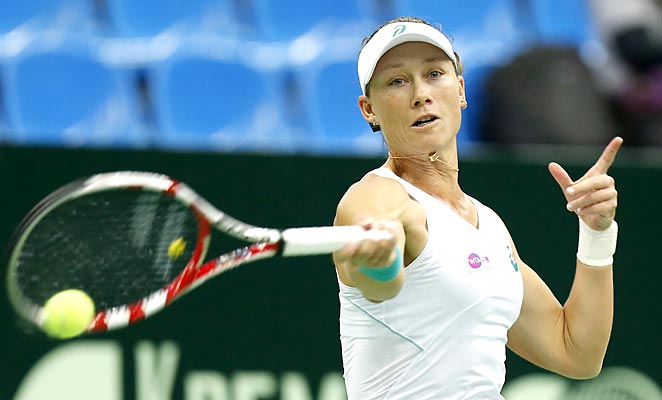 Samantha Stosur will meet Simona Halep in the final of the 2013 Kremlin Cup.