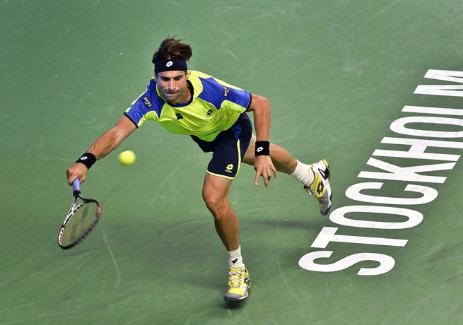 David Ferrer lost the first set before recovering to defeat Ernests Gulbis in Stockholm.