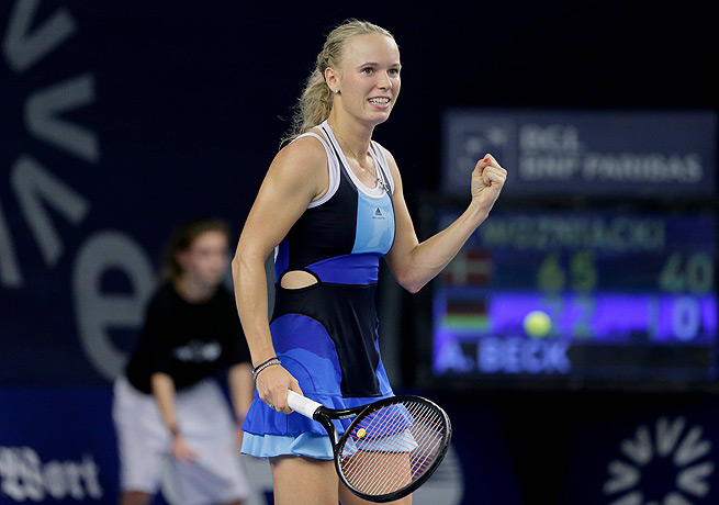 Caroline Wozniacki's win in Luxembourg gave the ninth-ranked Dane her first championship of the year.