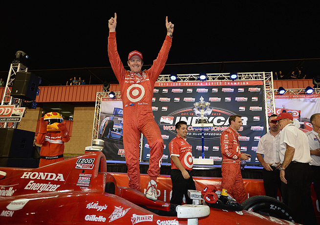 Scott Dixon was able to celebrate his third IndyCar title after the race at Auto Club Speedway in California.