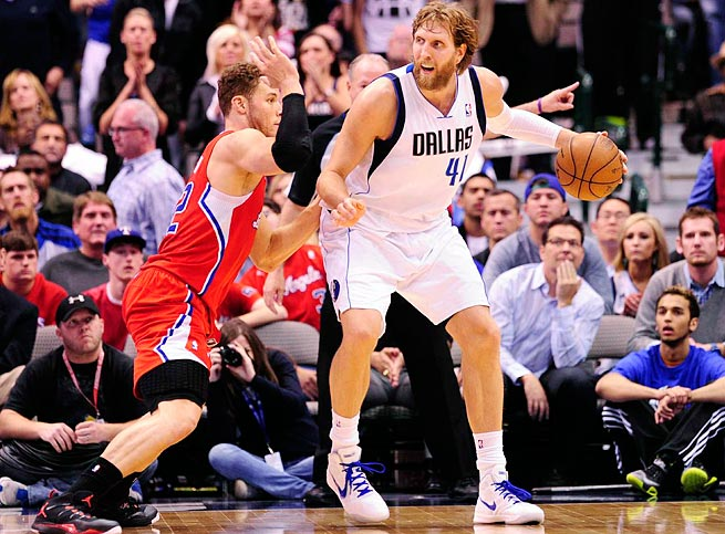 Dirk Nowitzki, 35, averaged 17.3 points last season, his lowest mark since his rookie year in 1998-99.