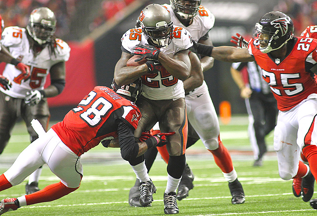 Mike James rushed for 45 yards on 14 attempts, and caught three passes for eight yards in Week 7.