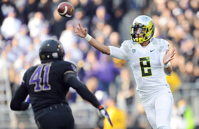 Marcus Mariota has put up impressive stats this season (2,051 yards passing, 493 yards rushing, 28 total touchdowns).