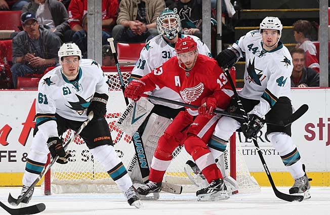 After winning with high-powered offense, the Sharks made a defensive statement against Detroit.