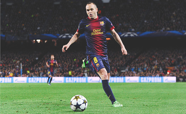 Andres Iniesta has spent 12 years with Barcelona's top team since rising in its development program.