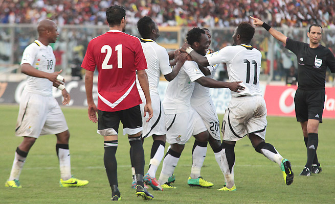 Ghana embarrassed Egypt in the first leg of their playoff, winning 6-1 in Kumasi on Oct. 15.