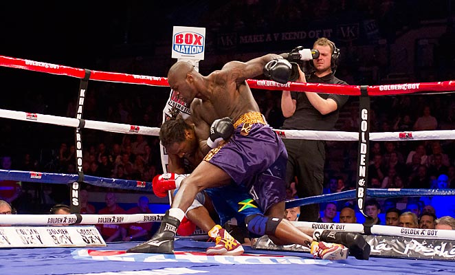 Deontay Wilder made easy work of England's Audley Harrison in April of this year.