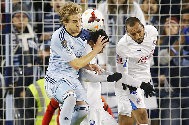 Chance Myers and the Sporting KC defense held strong in a 0-0 draw against Olimpia of Honduras.