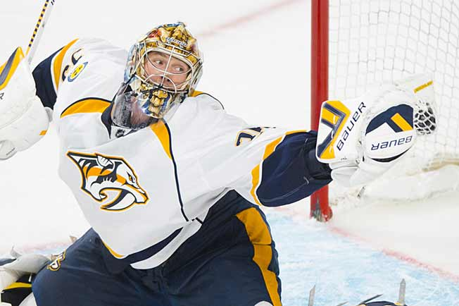 Hip problems have been plaguing goaltender Pekka Rinne since last season.