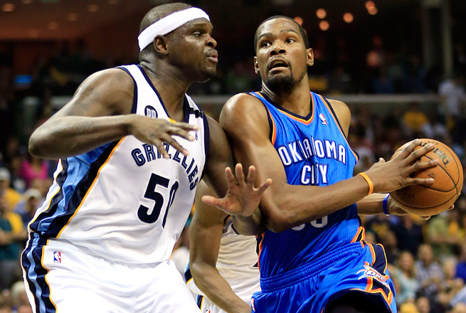 Ian Thomsen is picking the Grizzlies to miss the playoffs, and Kevin Durant and Co. to win the title.