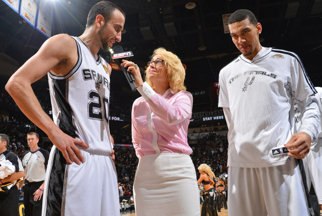 ESPN's Doris Burke is moving into a part-time studio role for the 2013-14 NBA season.