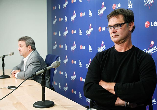In another Major League lovefest, the Dodgers GM and the skipper looked very much like an old married couple as they discussed Mattingly's future or lack thereof with the media at Dodger Stadium.