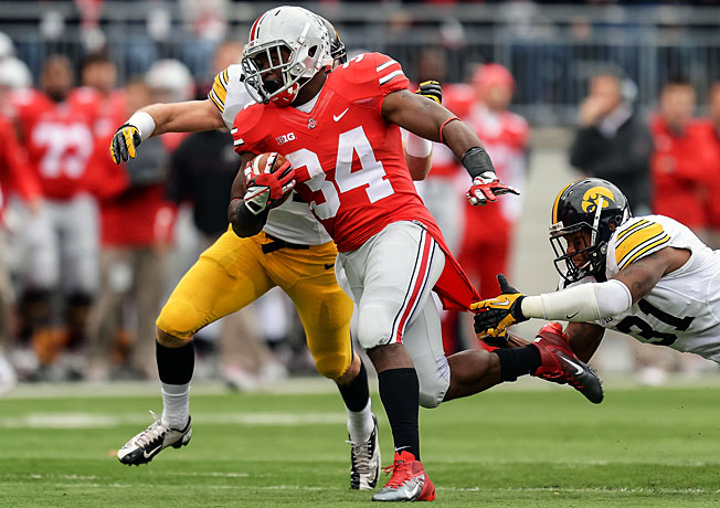 Since returning from suspension, Ohio State's Carlos Hyde has run for 443 yards and five touchdowns.