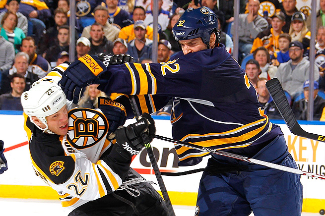 Sabres' John Scott is expected to be punished after blindsiding Bruins' Loui Eriksson (not pictured).