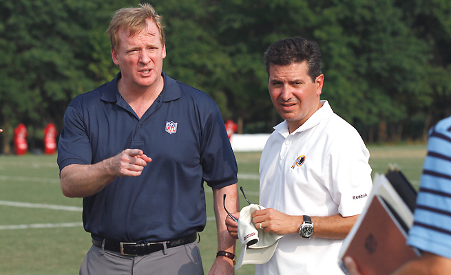 It's unclear whether Roger Goodell (left) will attend the NFL's meeting with Oneida Indian officials.