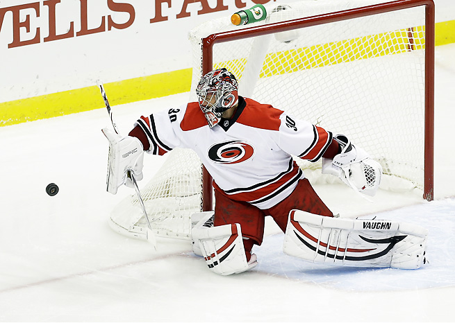 Cam Ward started eight of ten games for the Hurricanes to start the 2013-2014 season.