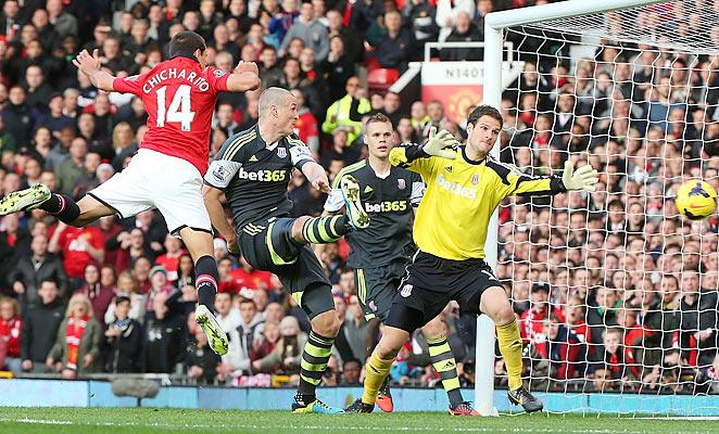 Javier 'Chicharito' Hernandez scored the winning goal in Man United's 3-2 win over Stoke.
