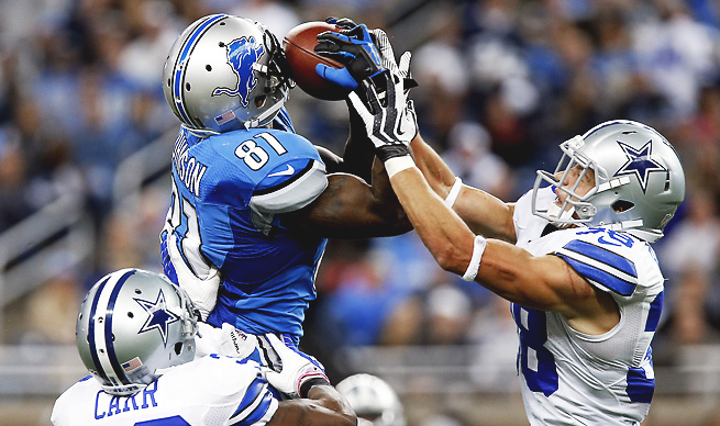 Calvin Johnson had a historic day with 14 receptions, 329 receiving yards and one touchdown.