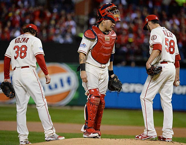 Gold Glove catcher Yadier Molina is almost never shaken off by St. Louis pitchers like Joe Kelly.