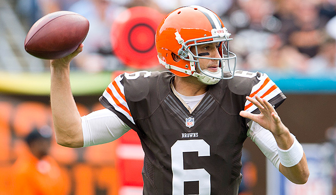 Quarterback Brian Hoyer led the Browns to two straight wins before tearing his ACL in Week 5.